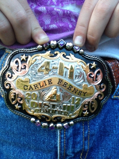 2012 4H District Qualifier Buckle